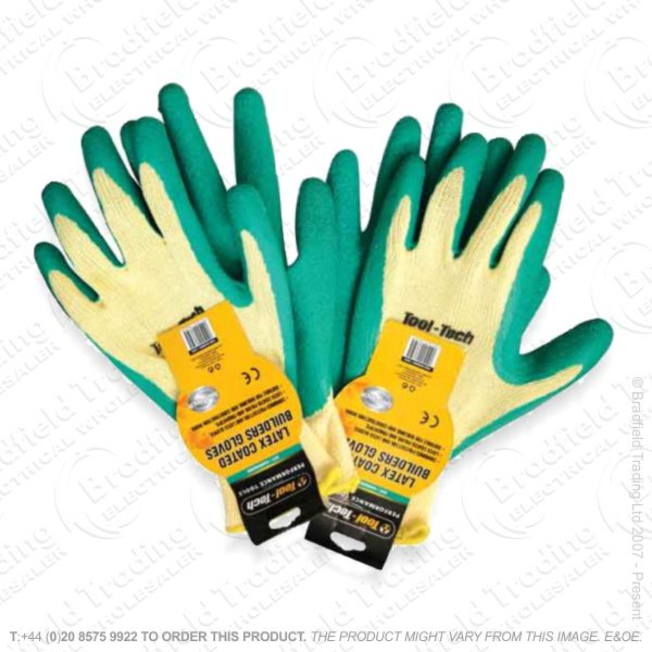 G48) Builders Gloves Latex Coated RTRMAX