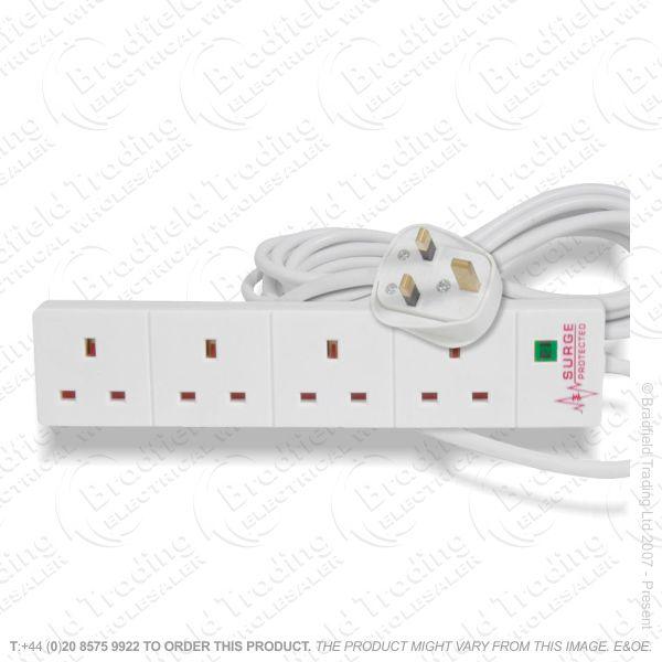 F05) Extension Lead 4G 13A 2M Surge C50 REDGR