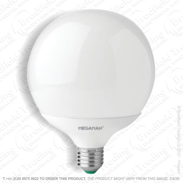 A29) LED Globe 120mm 14W ES 4000k WW Megaman