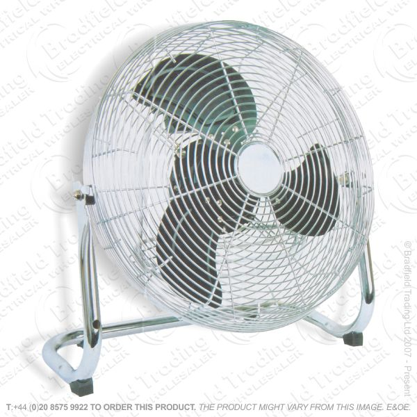 D07) Fans Floor 14  Blower Velocity Chrome