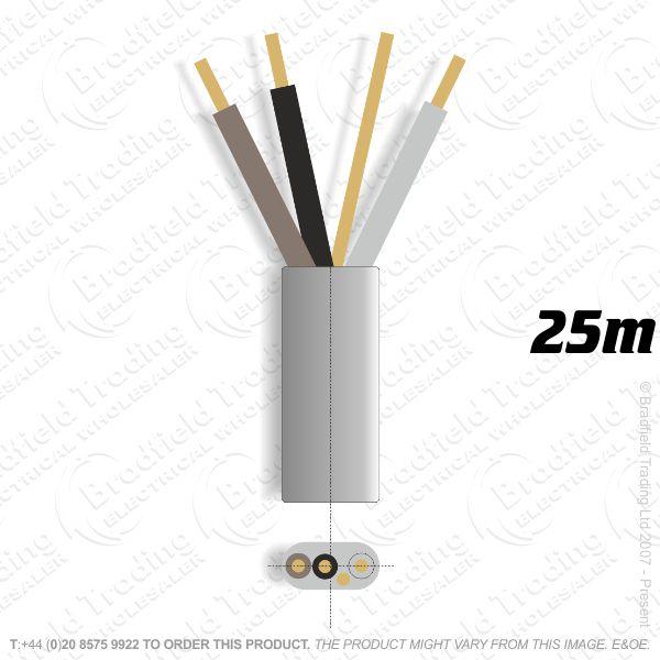 H10) 6243Y Flat 1.5mm 3c   earth grey 25M