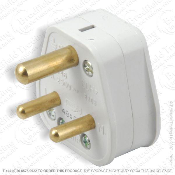 F02) Plug Round 3pin 15A Nofuse white