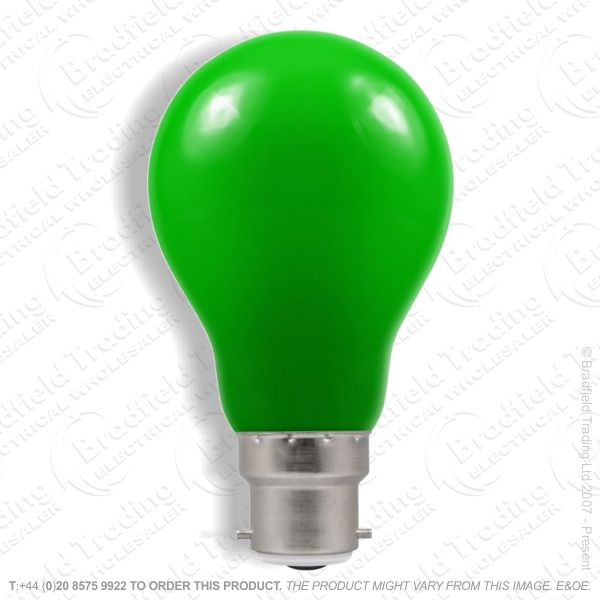 A02) GLS Coloured BC Green 15W Bulb