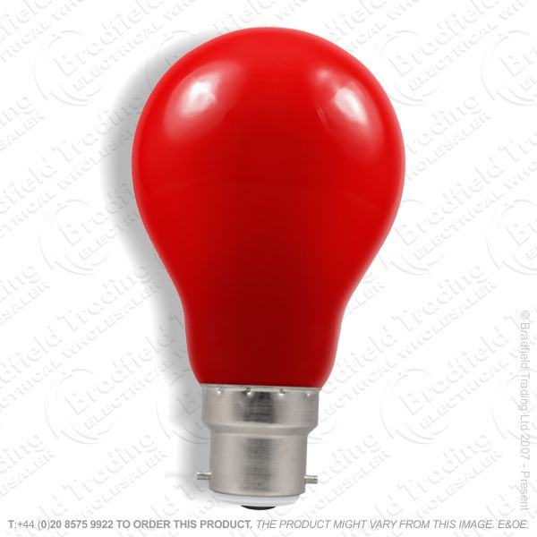A02) GLS Coloured BC Red 15W Bulb