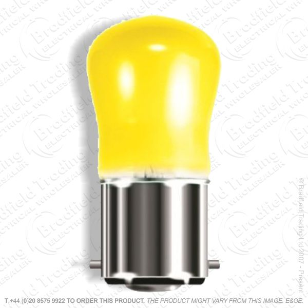 A08) Pygmy Coloured BC Yellow 15W Bulb