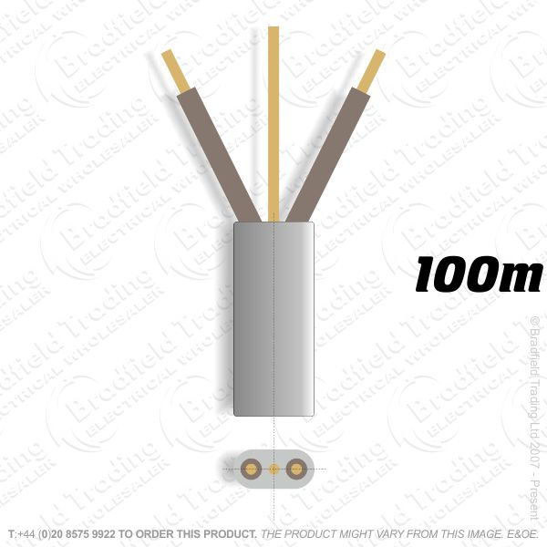 H10) 6242Y Flat 1.5mm T E Brown/Brown 100m