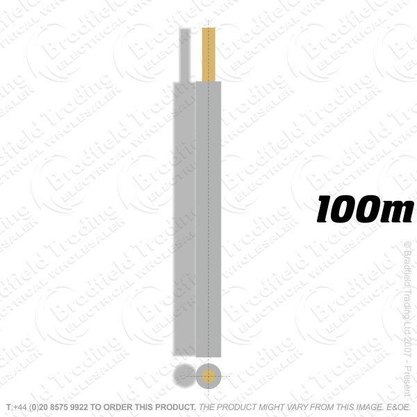 H04) Single Strand Grey 1.5mm 100M 6491X