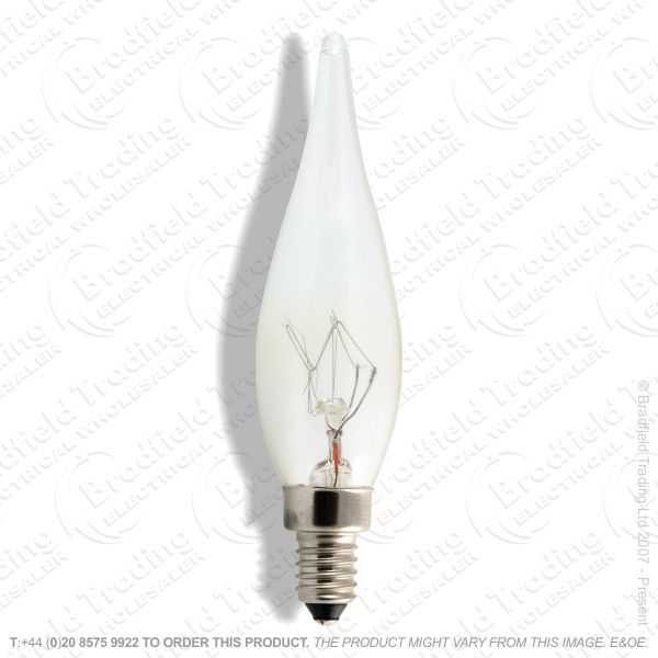 A06) Candle MES E10 Clear 15W GS SWAN