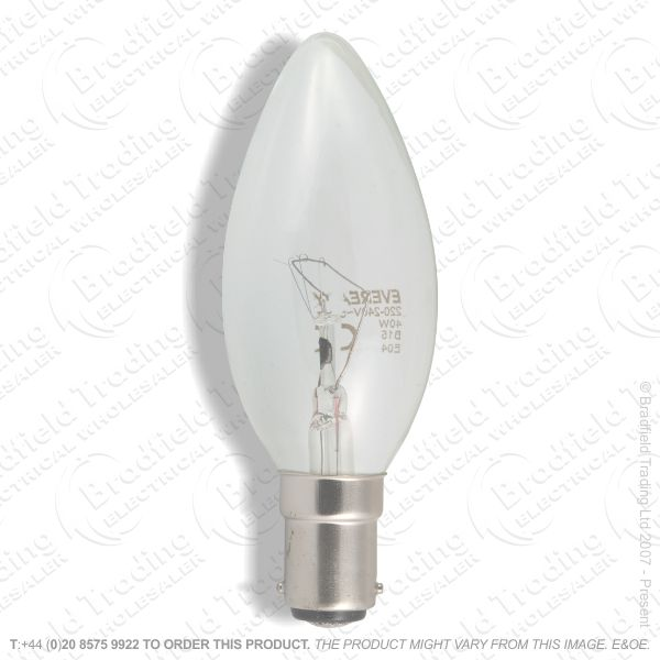 A04) Candle 35mm SBC Clear 15W CROM
