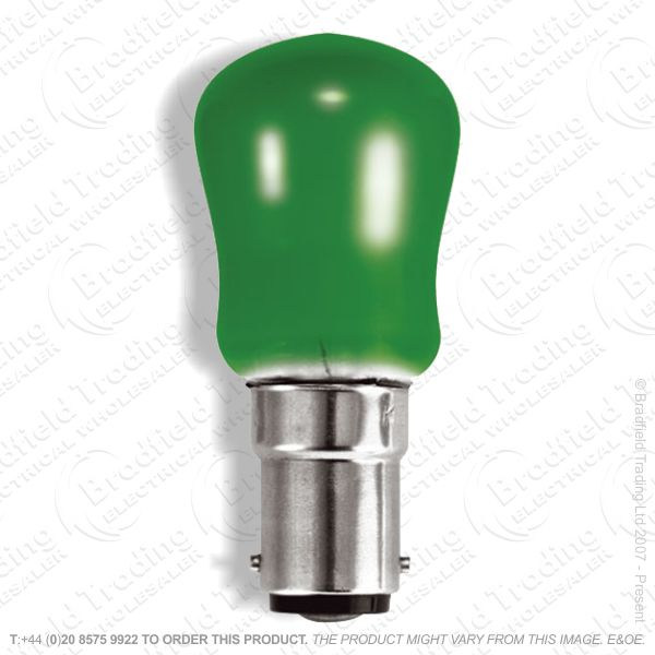 A08) Pygmy Coloured SBC B15 Green 15W