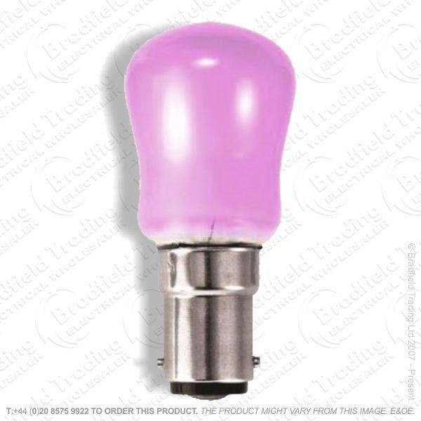 A08) Pygmy Colored SBC Pink 15W B15
