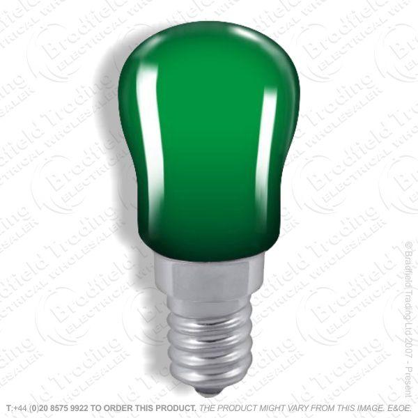 A08) Pygmy Coloured SES Green 15W CRO