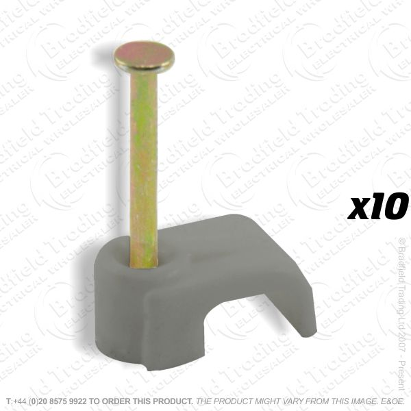 H02) Cable Clips T E Flat 16mm grey x10