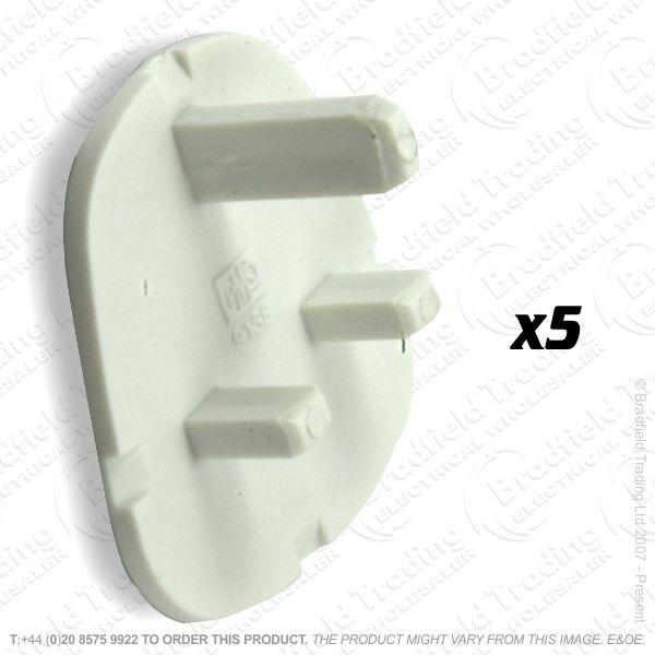 F02) Plug UK Safety Cover white Pk5