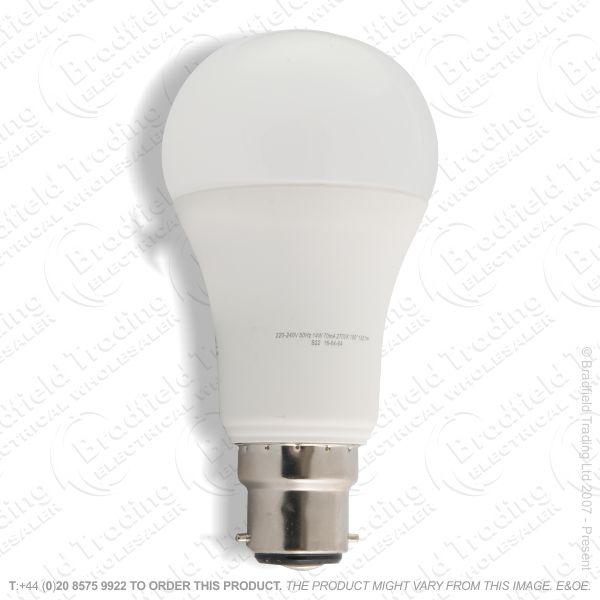 A22) 15W LED GLS BC 2700k Dim 1521lm INTEGRAL