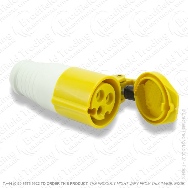 F06) Splash Proof Socket 16A 110V yellow