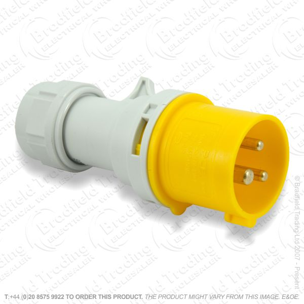 F06) Splash Proof Plug 16A 110V yellow