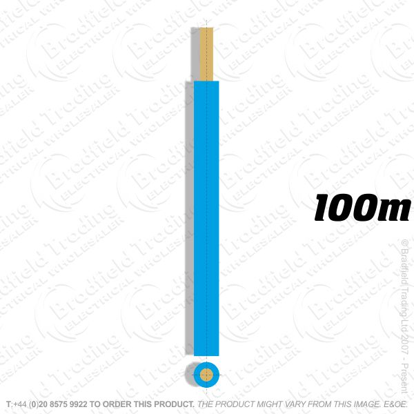H04) Single Strand Blue 16mm 100M 6491X