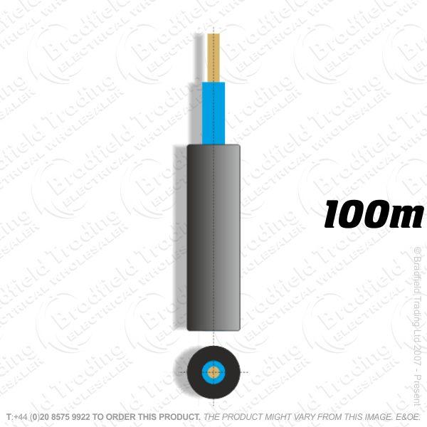 H05) Meter Tails 16mm blue/blue 100M 6181Y