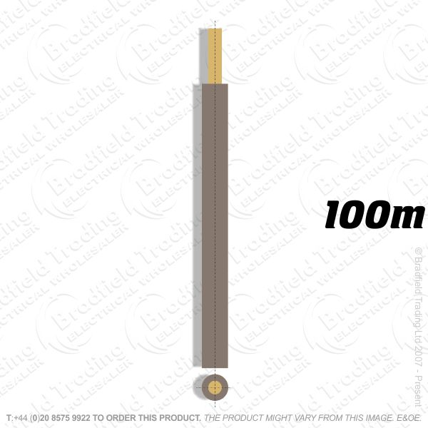H04) Single Strand Brown 16mm 100M 6491X