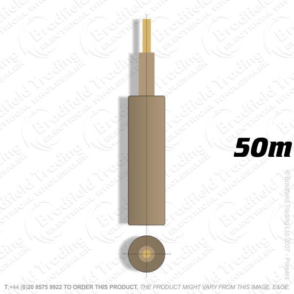 H05) Meter Tails 16mm Grey Brown 50M 6181Y