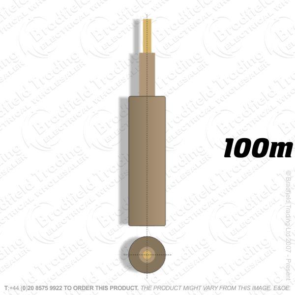 H05) Meter Tails 16mm Brown 100M 6181Y