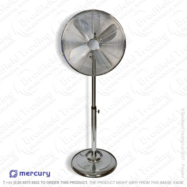 D06) Fans Pedestal 16  Chrome