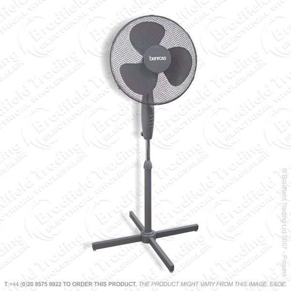 D06) Fan Pedestal 16   Grey BENROSS