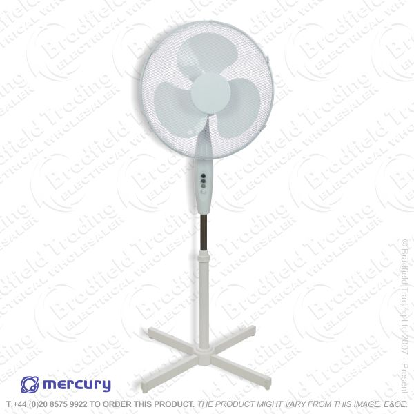 D06) Fan Pedestal 16  White ECO