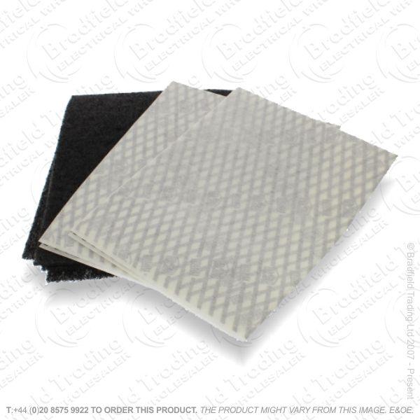 C19) Filter Cooker 470x570mm Charcoal UNI502
