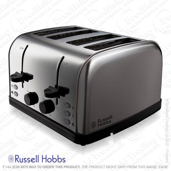 C04) Toaster 4slice StainSteel R/HOBBS