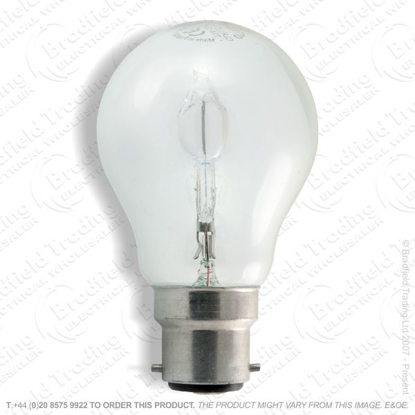 A12) GLS Halogen BC Clear 18W Bulb