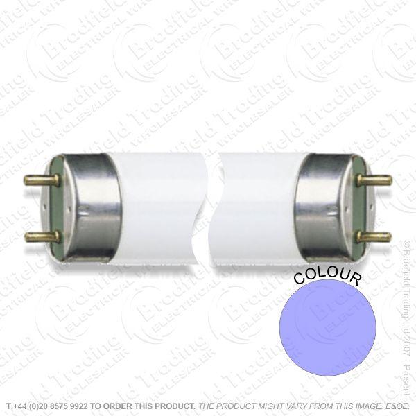 A68) Colour blue T8 18W 2ft 600 Tube
