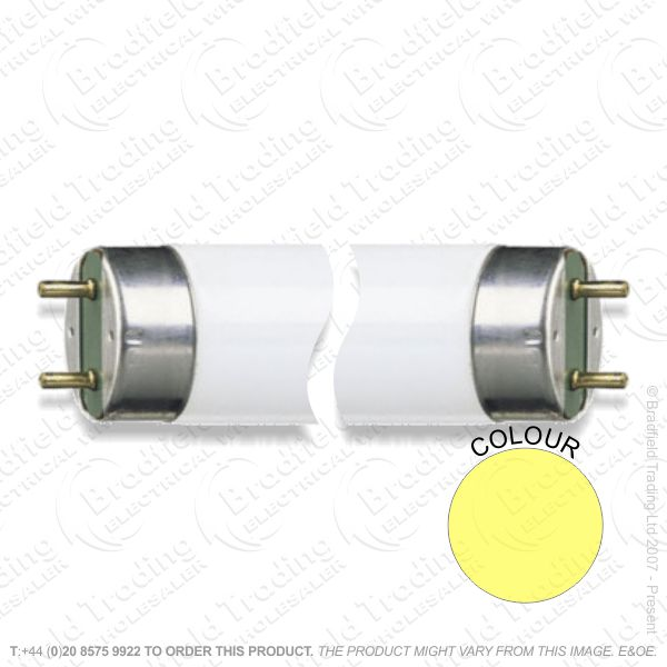 A68) Colour yellow T8 18W 2ft Tube