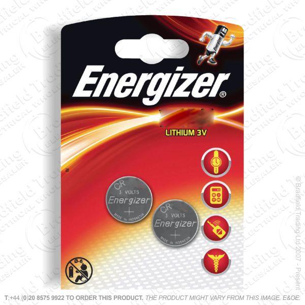 E09) Battery CR2032 3V lithium x2 pk ENERGIZE