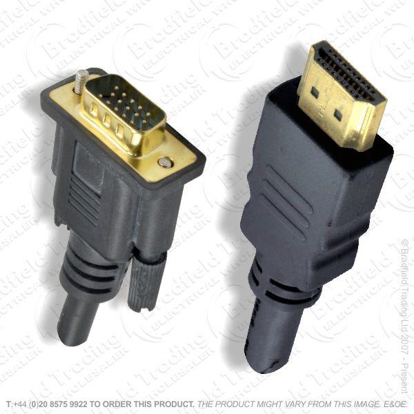 E28) HDMI to VGA Lead plug-plug 2M
