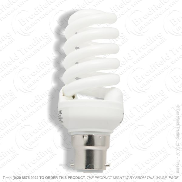 A13) Spiral Dimmable BC 6500 20W Crom