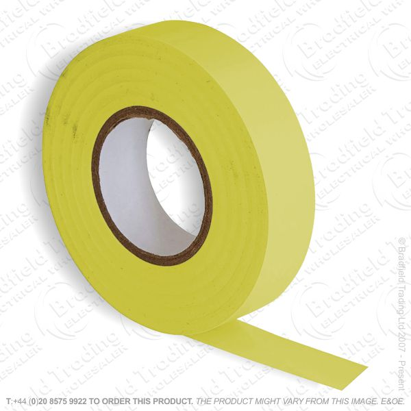 G02) Tape Insulation 20M PVC yellow (Single)