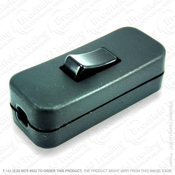 F14) Switch Inline 2A 3c Black *Sold in 1pc**