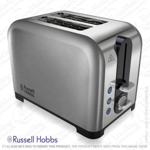 C04) Toaster 2slice Polished Steel R/HOBBS