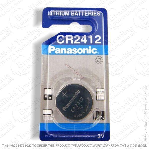 E09) Battery CR2412 3V lithium PANASONIC