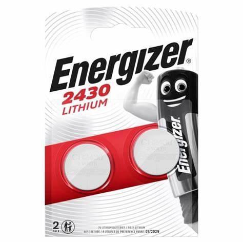 E09) Battery CR2430 3V Lithium Pk2 ENE