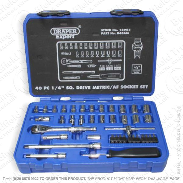 G37) Socket Set 1/2  41pc DRAPER