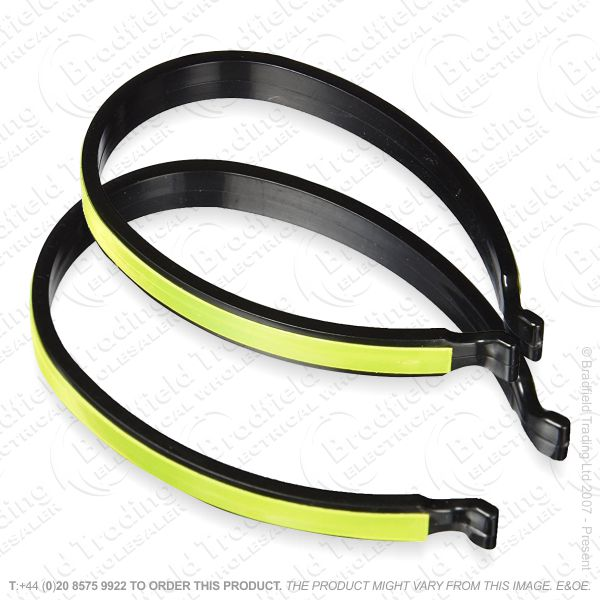 G56) Bicycle Trouser Clip Reflective 2pc