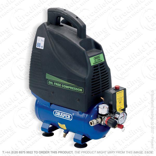 G55) Oil-Free Air Compressor 230V 6L DRAPER