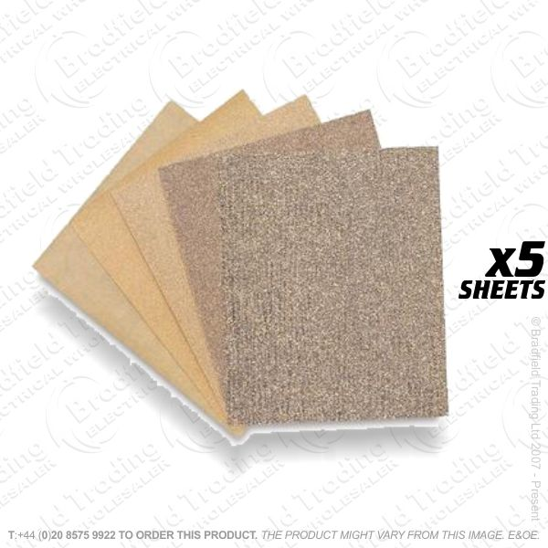 G21) Cabinet Sand Paper 5pk Assorted