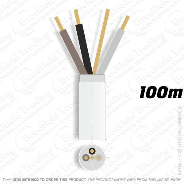 H07) Fire White 2.5mm 3 core   earth100M