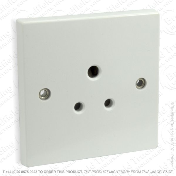 I25) Socket 3pin Round 1G 5A white
