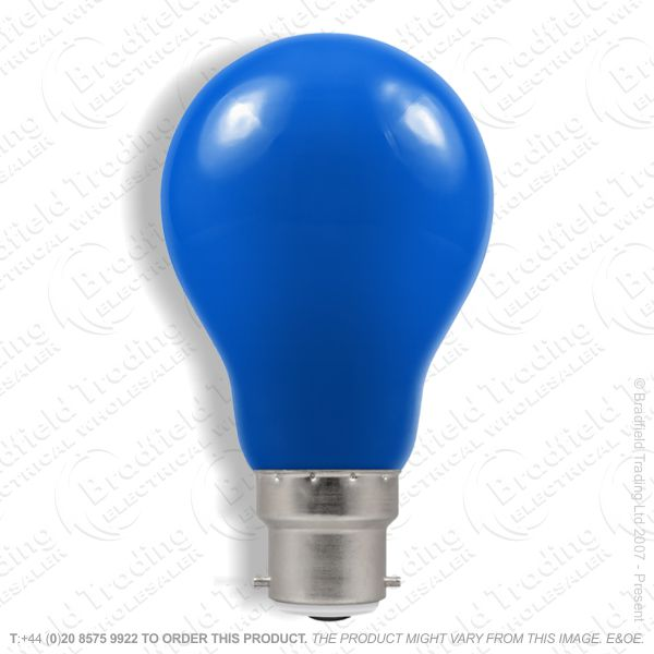 A02) GLS Coloured BC blue 25W