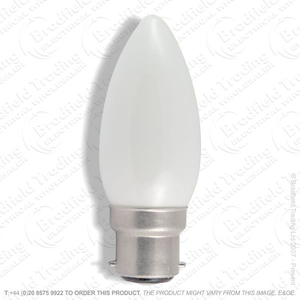A04) Candle 35mm BC Opal 25W Incandecent